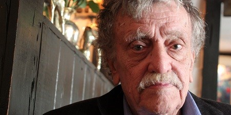 NEW YORK - MARCH 24: Writer Kurt Vonnegut poses for a portrait on March 24, 2006 in New York City. (Photo by Jean-Christian Bourcart/Getty Images)